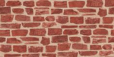 Collage Red Brick (20899) - Albany Wallpapers - A stunning, contemporary design of rough red bricks on a textured mortar-effect in sandy beige. An ideal way of creating rustic 'shabby chic' glamour, following current bohemian trends. Please request sample for true colour and texture match.
