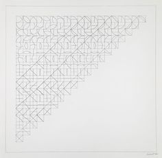 Sol LeWitt, All Combinations of Arcs from Corners and Sides; Straight, Not-Straight and Broken Line, 1975