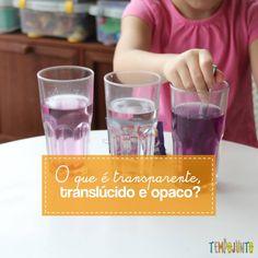 Saiba como fazer em casa um experimento simples para ensinar para as crianças o que é um meio transparente, translúcido, opaco.