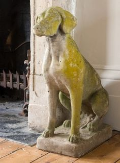 English Heritage Dog Statue Dog Garden Statues, Dog Statues, Garden Paths,  Garden Art