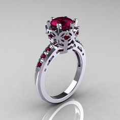 Modern Classic 14K White Gold 15 Carat Rhodolite by artmasters, $1329.00 i sooooo want this
