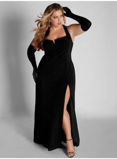 Ferarra - maybe my favorite Igigi dress ever. Black sleeveless evening gown with a high slit. $205.00. Super-duper sexy! I'm am proud to have this in my collection