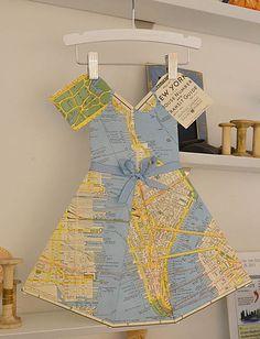 Pretty Handmade Paper Dresses by Marcel Crosby