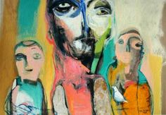 "Saatchi Art Artist Qais Al-Sindy; Painting, ""The good Jewish father and his twin sons"" #art"