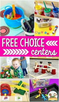 How to manage free choice learning centers in your preschool, pre-k, or kindergarten classroom. Tips for making the most out of center time. #prekpages #preschool #prek