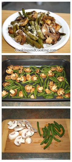 Roasted Green Beans and Mushrooms Recipe