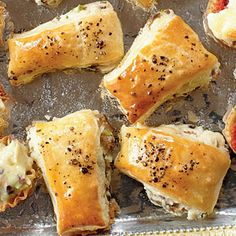 mushroom puffs, etc. for parties