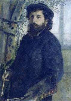 Portrait of Claude Monet, 1875. Pierre Auguste Renoir