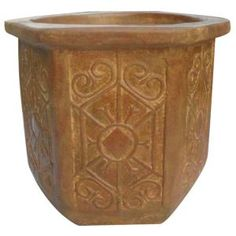Ravenna Pottery, 23 in. Clay Grenoble Planter, RRC-102B-C at The Home Depot