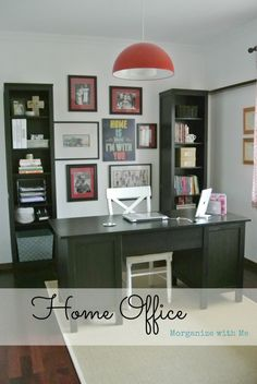 Ikea Organized Home Office - great systems for organizing.