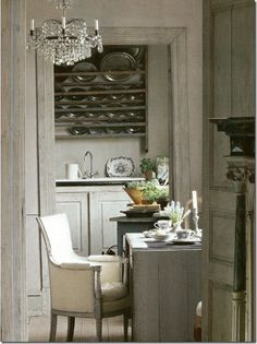 beautiful understated pewter color in the dining room