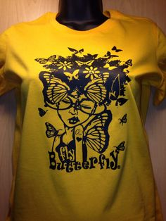 A personal favorite from my Etsy shop https://www.etsy.com/listing/206329951/fly-butterfly-fitted-tee