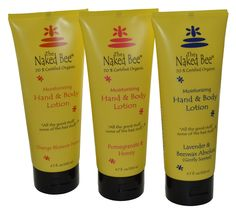 Naked Bee Hand & Body Lotion 6.7 Oz 3 Pack Orange Blossom Honey Pomegranate & Honey and Lavender & Beeswax Absolute...I use this every day!