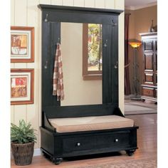 22 Best Entry Room Mirror Hall Tree Images Antique Furniture