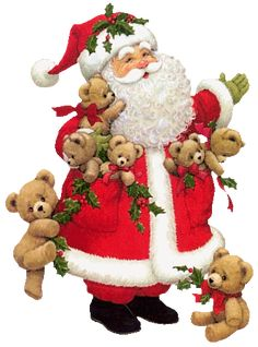 Santa and His Teddy Bears
