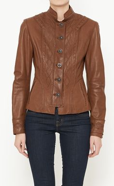 Elie Tahari Brown Jacket | VAUNTE
