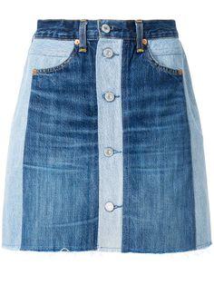 Skinny Jeans With Flats Re/Done x Levi's button front denim skirt. Skinny Jeans With Flats Re/Done x Levi's button front denim skirt Diy Jeans, Jeans Refashion, Denim And Lace, Blue Denim, Demin Skirt, Waist Skirt, Button Front Denim Skirt, Mode Jeans, Denim Ideas