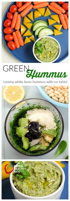 Green Hummus Recipe | smooth and creamy no tahini | Super Healthy Kids | Food and Drink