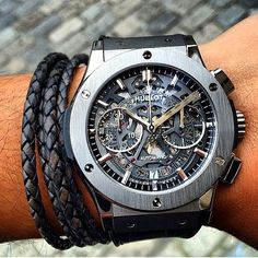 Hublot Classic Aerofusion via @roxjewellery | #LoveWatches