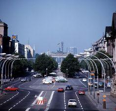 1976, Unter den Linden mit Blick gen Brandenburger Tor.