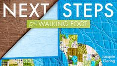 Craftsy class with Jacquie - look at that beautiful walking foot quilting!