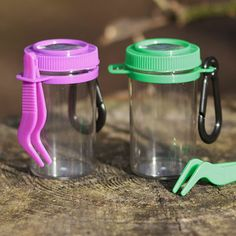 Bug collecting jars with tweezers - lightweight and perfect for kids to take out and about!