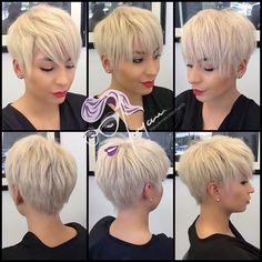 All sizes | **✂ #️pretty little #pixie ✂️** on my #beauty ❤️Darlene❤️ #shorthair #pixiecut #texture #haircut #texturedcut #choppy #undercut #nothingbutpixies #hrvahairartistry #modernsalon #americansalon #hairbrained | Flickr - Photo Sharing!