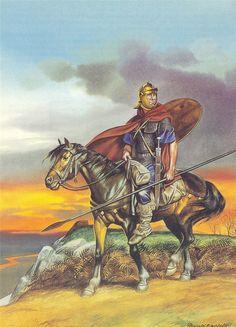 Roman Auxiliary Cavalryman, 2nd Century A.D. ~ art by Ronald Embleton