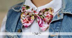 ♥ pinkflower bow-tie