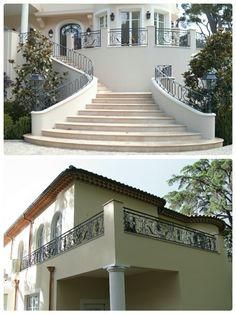 Wrought iron railings around the house Kute balustrady wokół rezydencji