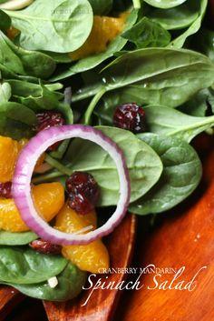 Cranberry Mandarin Spinach Salad