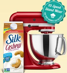 10-Speed Stand Mixer from Silk Giveaway on http://hunt4freebies.com