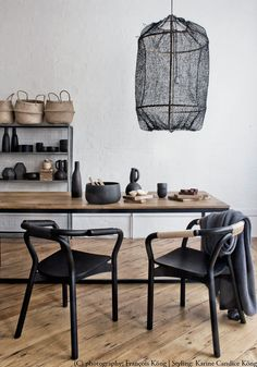 "Following my recent post on ""How to decorate with black pendant lights"", we had lots of queries for this striking hand knitted black sisal Z1 pendant light, which is now available for pre-order. You can also see the version below in this beautiful family warehouse in Amsterdam I featured last year. I love the organic vibe and …"