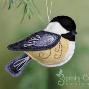 Felt Chickadee Bird Ornament - via @Craftsy