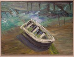 Buy Boat, a Oil on Canvas by Philip Dunn from United States. It portrays: Boat, relevant to: shallows, blue, boat, color blind, algae, dock, dream, green, harbor, sand bar Dreamy and lonely, this boat has more color than purpose or ambition.  Neglected Boat Tide Beached Muck (scheduled via http://www.tailwindapp.com?utm_source=pinterest&utm_medium=twpin&utm_content=post160888549&utm_campaign=scheduler_attribution)