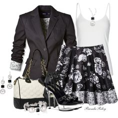 """""""Rolled Sleeve Blazer"""" by brendariley-1 on Polyvore"""