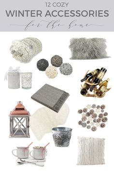 12 Winter Accessories for a Cozy Home, Home Accessories, One of the easiest and least expensive ways to update your home is through seasonal decorating. Here are 12 awesome winter accessories for a cozy home. Trendy Home Decor, Affordable Home Decor, Easy Home Decor, Rustic Winter Decor, Winter Home Decor, Rustic Bedroom Design, Country Interior Design, Bedroom Decor, Playroom Decor