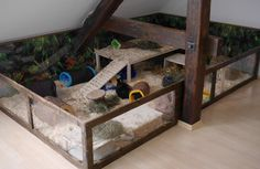 Meerschweinchen Eigenbau Gehege