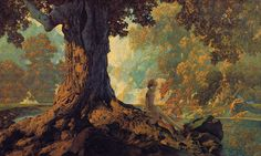 Dreaming by Maxfield Parrish