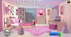 Sims 4 CC's - The Best: Teen Bedroom Set by JomSims