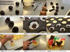 Hidden Mickey cupcakes