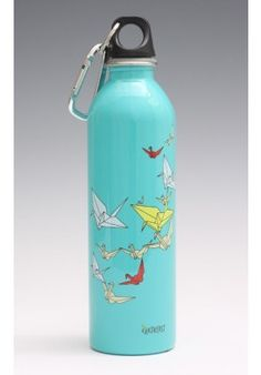 Paper cranes water bottle.