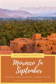 Are you looking to visit Morocco in September? If so, you need this travel guide full of things to do! Visit Marrakech, Visit Morocco, Morocco Travel, Packing Tips, Trip Planning, Countryside, Travel Guide, Travel Inspiration, Things To Do