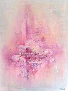 Tittel kommer 80x60 cm. Akryl på lerret m/ strukturer (mixed media).  Bildet går i fargene:  Vanilje, skygrå, pudder, fersken, syrin, lys lilla, lilla, indigo, orkidè, deep purple (rød-lilla).  For å se detaljer eller strukturer osv. i maleriet, kan du klikke opp bildet og bevege musepekeren over bildet.