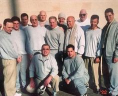 1998 prison pic of Tommy Pitera, John Pappa, Robert Bisaccia, Vic Orena, John Stanfa, Tommy TK Reynolds and Anthony Senter