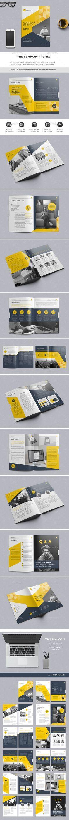 company profile - A5 Company profile, Brochures and Print templates