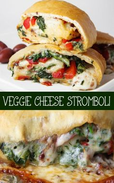 Veggie Cheese Stromboli - one of my all-time favorite meals. This stromboli will bring you to your knees!