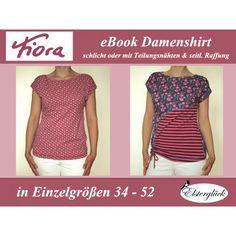 Ebook - Damenshirt FIORA Gr. 32 - 52