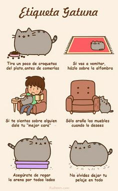 Modales del gato Cat manners Pusheen