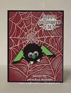 Stampin' Up!  Punch Art  Geraldine Andrade  Halloween Spider